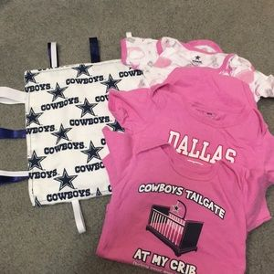 8f605faed cowboys authentic apparel One Pieces - Dallas cowboys girls onesies with  taggie!